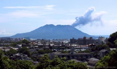 Kagoshima's volcano