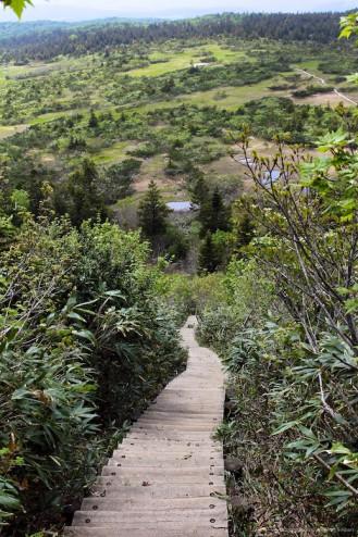 Montain hike near Aomori