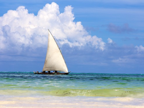 Traditional Sail Boat in Zanzibar