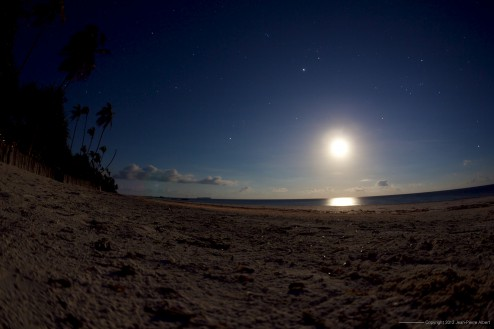 Night sky on the Matemwe Beach
